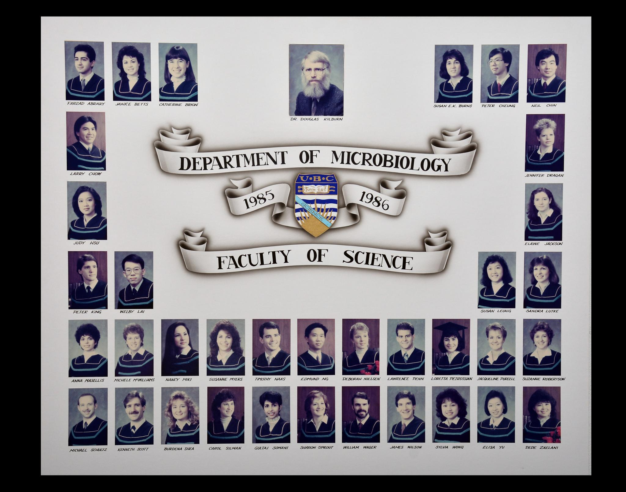 Graduating Class of 1985-1986