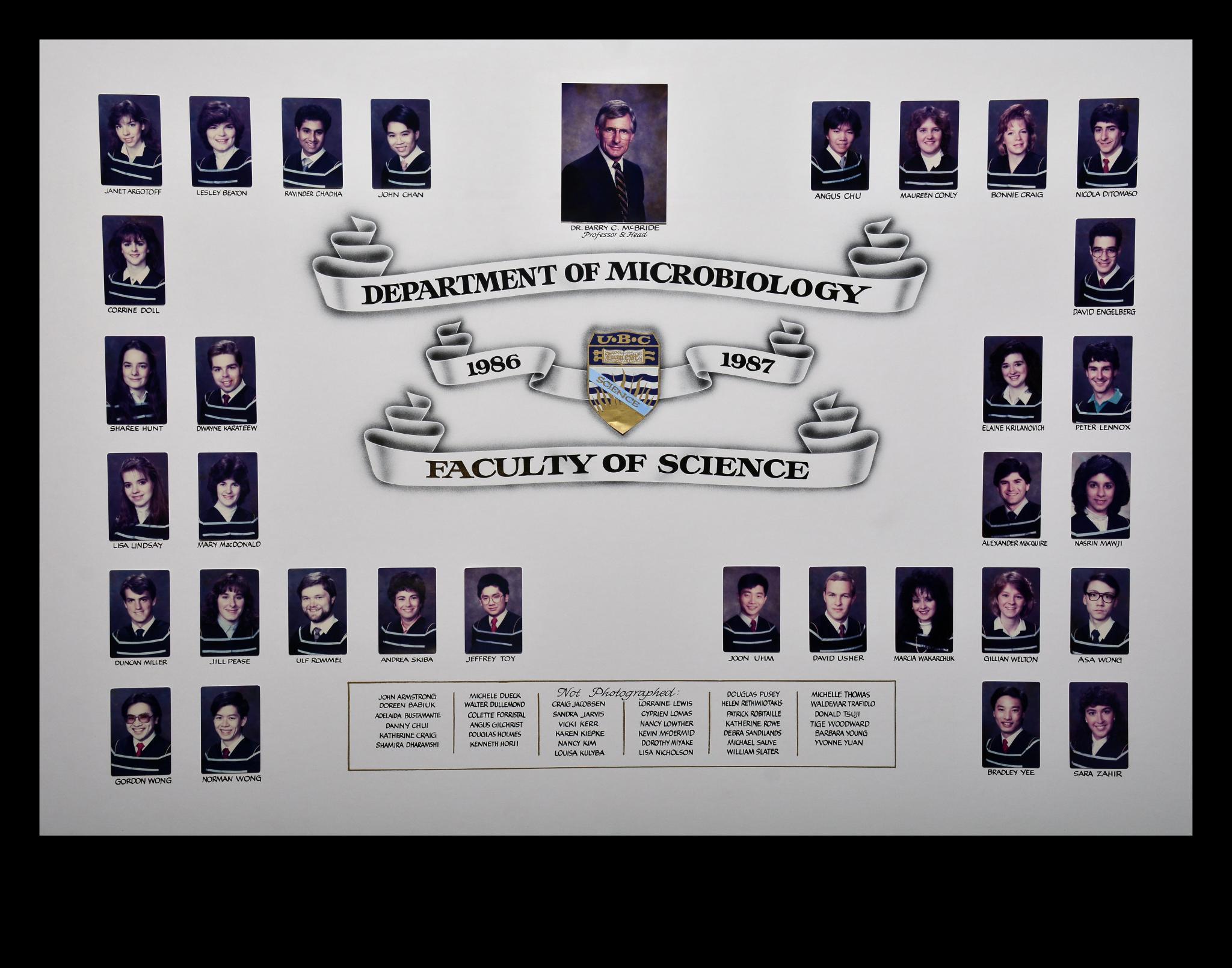 Graduating Class of 1986-1987