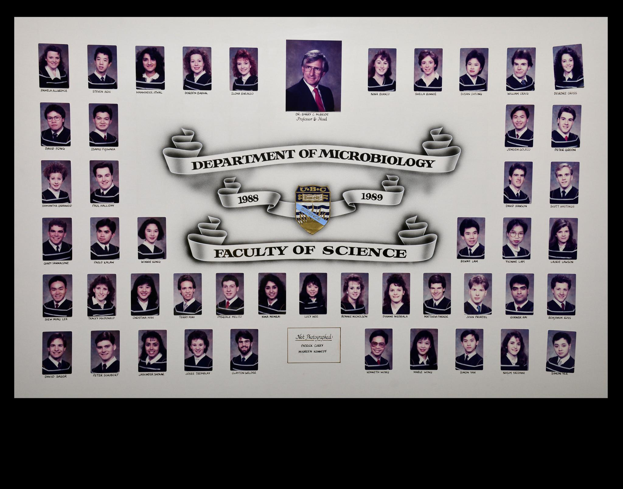 Graduating Class of 1988-1989